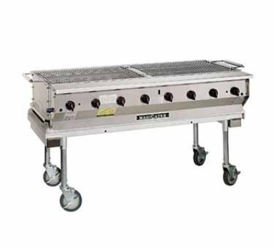 Magikitch'n NPG60SS 60-in Magicater Transportable Grill w/ Chrome Cooking Grids, S