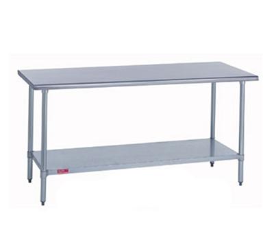 Duke 418-3072 72-in Work Table w/ Galvanized Undersh