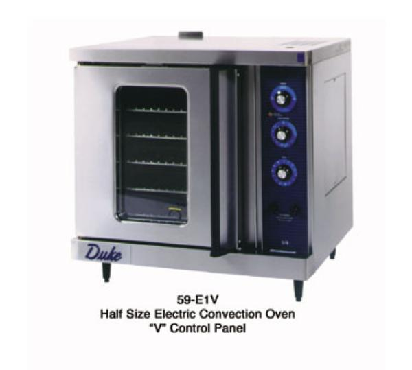 Duke 59-E3XX 2403 Convection Oven, Half-Section, Single Deck, Cook & Hold, 240V 3PH