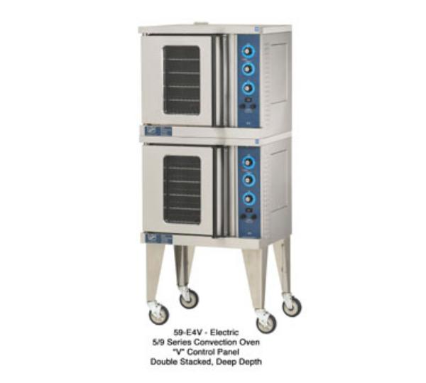 Duke 59-E4XX 2401 Convection Oven, Electric, Half-Section, Double Deck, Digital Timer, 240V 1PH