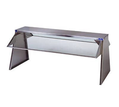 Duke F638-1SN Buffet Shelf w/ 1-Tempered Glass Guard, 10 x 18 x 58.37-in