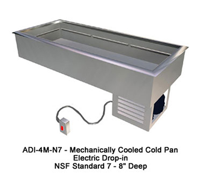 Duke ADI-3M-N7 Cold Food Drop-In Unit, 3-Pan Size, 46.12 x 24-in, All Stainless