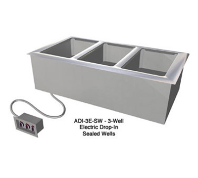 Duke ADI-6E-SW 240/60/1 Hot Food Drop-In Unit w/ 6-Wells & 2-Remote Control Panels