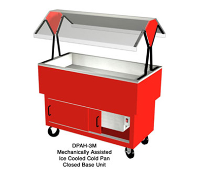 Duke DPAH-2M217152 30.37-in Cold Food Portable Buffet w/ 2-Sections, Enclosed Base, Stone Gray