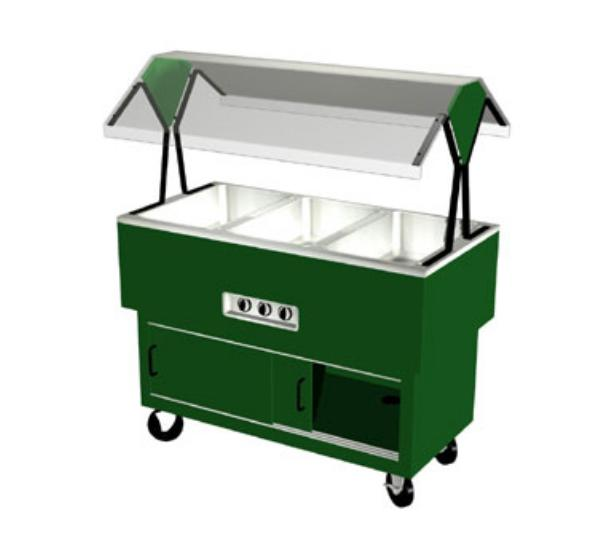Duke DPAH-3-HF 217127208 Hot Food Portable Buffet, 3 Hot Wells, Clear Canopy, Fence Green, 208V