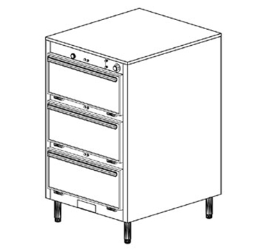 Duke 1453 2083 Reach In Heated Cabinet, 1-Thermostat Per 3-Compartments, Legs, 208/3 V