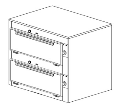 Duke 2352 2403 Reach In Heated Cabinet, 1-Thermostat Per 2-Compartment, 9x29x28.5-in, 240/3 V