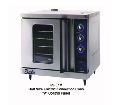 Duke 59-E3V 2081 Half-Size Convection Oven - Single Deck, Manual Controls 208/60/1v