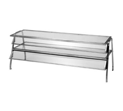 Duke 984 Glass Display Shelf w/ 1/4-in Acrylic End Guards, 58.37x16x20-in