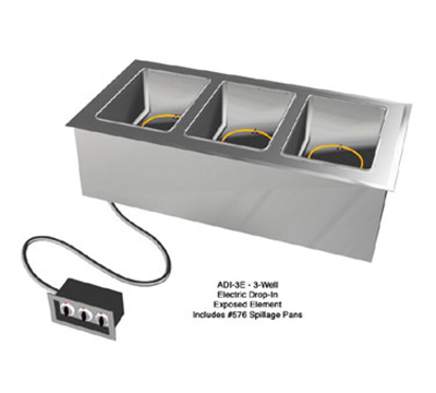 Duke ADI-6E2083 88.25-in Hot Food Drop In Unit w/ Drain & (6) 12x20-in Wells, 208/3 V