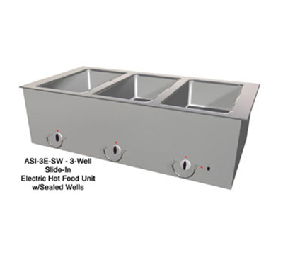 Duke ASI-6E-SW2083 88.25-in Hot Food Slide In Unit w/ Drain & (6) 12x20-in Sealed Wells, 208/3 V