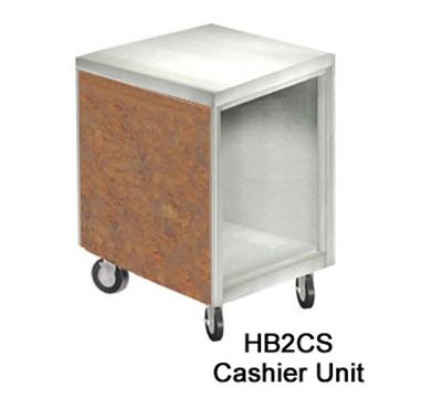 Duke HB2CS 7733-58 Cashier Unit w/ Stainless Top, Paint Grip Bottom Shelf & Body, Ubatuba Granite