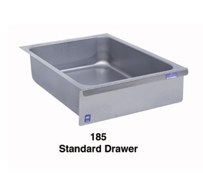 Duke 185 Standard Drawer, Stainless Face Plate, On Roller Slides, For Work Tables