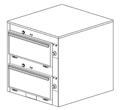 Duke 2452P 120 Pass Thru Heated Cabinet, Individual Thermostat Controls, 9x22x28.5-in, 120 V