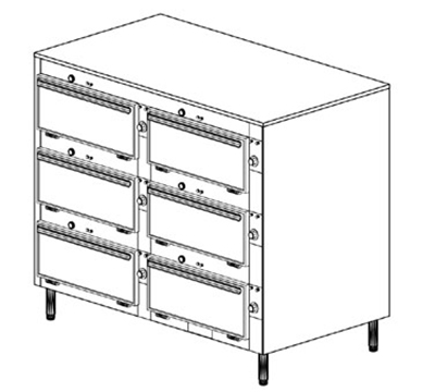 Duke 2456 2083 Reach In Heated Cabinet, (6) 12 x 20 x 2-in Pans Per Compartment, Legs, 208/3 V