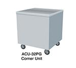 Duke ACU-32PG 217101 24.5 Corner Unit w/ Stainless Top & Paint Grip Body, Semi-Gloss Black