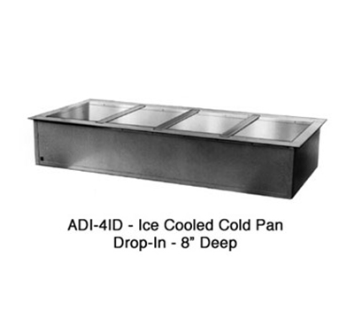Duke ADI-2ID 32-in Cold Food Drop In Unit w/ Drain & (2) 8-in Deep Pan, Stainless Top