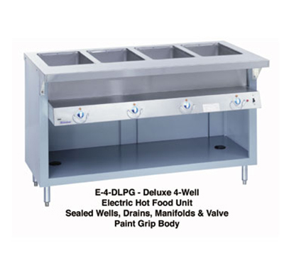 Duke E-5-DLSS 2081 60-in Steamtable w/ Drains & 5-Stainless Sealed Wells, 34-in Wide, 208/1 V