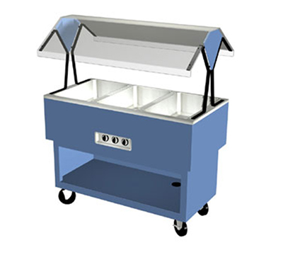 Duke OPAH-4-HF 2401 58-3/8-in Hot Food Portable Buffet w/ 4-Hot Wells, Stainless Top, 240/1 V