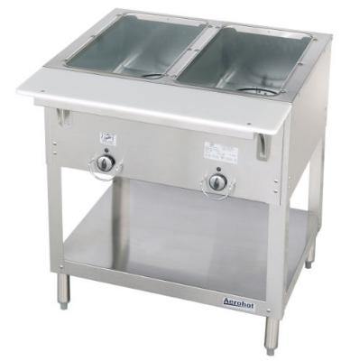Duke E302 208 Aerohot Steamtable Hot Food Unit, 2 Wells & Carving Board, 208/1 V