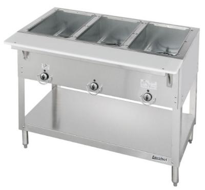Duke E303SW 2083 Aerohot Steam Table w/ 3-Sealed Wells & Carving Board, 208/3 V