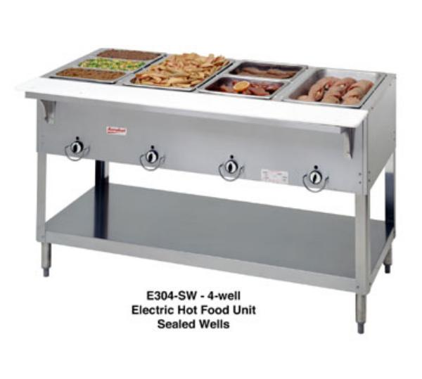 Duke E304SW Aerohot Steamtable Hot Food Unit, 4 Sealed Wells, 240 V