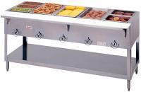 Duke E305 240 Aerohot Steamtable Hot Food Unit, 5 Wells & Carving Board, 240/1 V