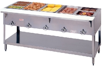 Duke E305 240 Aerohot Steamtable Hot Food Unit, 5 Wells & Carving Board, 240/1 V