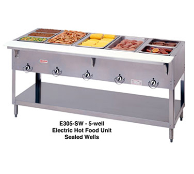 Duke E305SW 72.37-in Steamtable Hot Food Unit w/ 5-Well & Infinite Control, 240/1 V