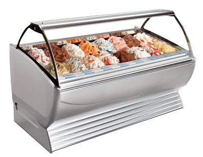 Stoelting ND 24-38 ROSE Gelato Display Cabinet w/ Curved Front, Holds 24-Pans, 208-230/1 V, Rose