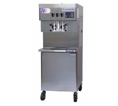 Stoelting U431-109 Soft Serve Freezer w/ (2) 8-gal Hoppers, Water Cool, 208-230/3 V