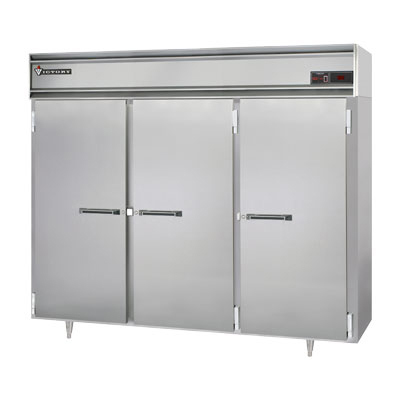 "Victory Refrigeration VF-SA-3D 78"" Reach In Freezer - 2 Full Doors, Locks, Top Mount, Stainless Exterior"