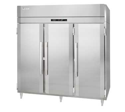 "Victory Refrigeration FSA-3D-S1 78"" Reach In Freezer - 3 Full Doors, Top Mount, Stainless Exterior"