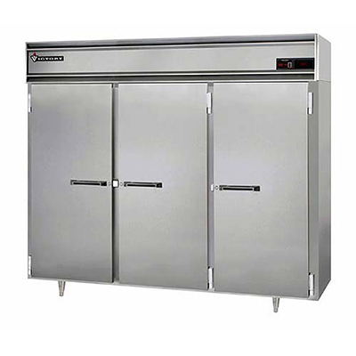 "Victory Refrigeration VR-SA-3D 78"" Reach In Refrigerator - 3 Full Doors, Locks, Top M"