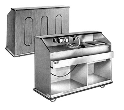 FWE - Food Warming Equipment BBC-5 788860 Portable Bar 60in L w/ 60lb Cap. Ice Bin, Golden Oak.