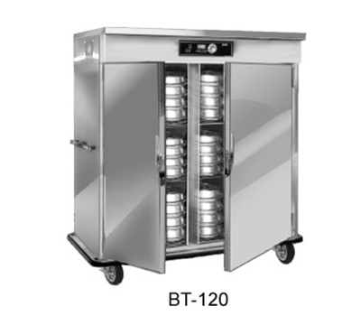 FWE - Food Warming Equipment BT-120 120 BT-Series Banquet Cart, 2-Door, 96-120-Plate Capacity, 11-in Max, 120V