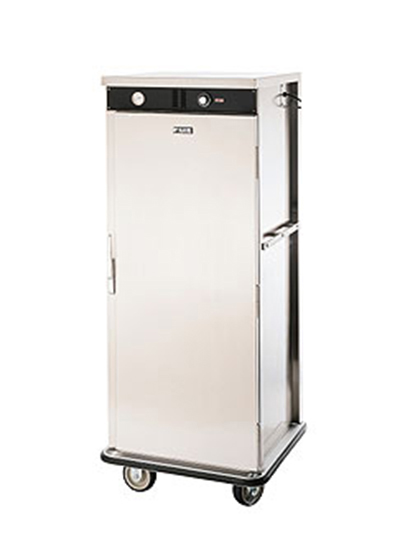 FWE - Food Warming Equipment E-480-XL220 E-Series Banquet Cart, 1-Door, 48-Plate Cap., 12.375-in Max, Stainless, 220/1V