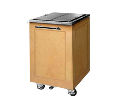 FWE - Food Warming Equipment ES-IC-200-BW Executive Series Mobile Ice Bin, 200lb Capacity, Fully Insulated.