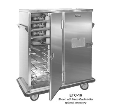 FWE - Food Warming Equipment ETC-16 Patient Tray Cart, 2-Door, 16 Tray Capacity, Full Bum