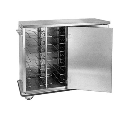 FWE - Food Warming Equipment ETC-12 Patient Tray Cart, 2-Door, 12-Removeable & Adj. Rod Type Slides, Stainless.