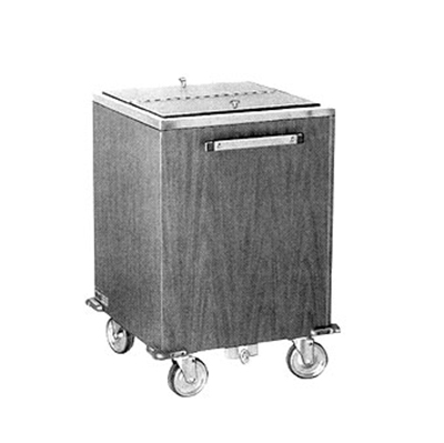 FWE - Food Warming Equipment IC-200 788860 Mobile Ice Bin w/ 200lb Capacity, Insulated, Stainless, Golden Oak