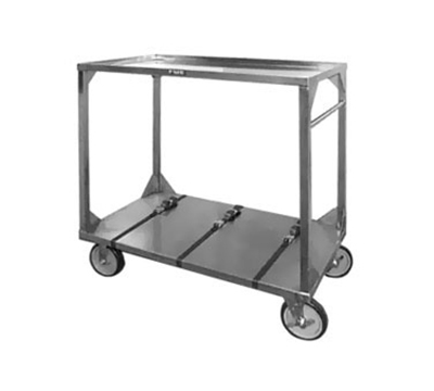 FWE - Food Warming Equipment ITT-72-104 Institutional Tray Transport Cart w/ 3-Straps, Stainless