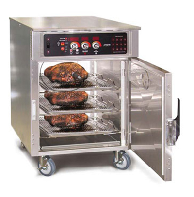 FWE - Food Warming Equipment LCH-8 220 Cook-Hold Mobile Cabinet, Half-Size, 8-Pan Cap. & 100lbs, Stainless, 220/1V