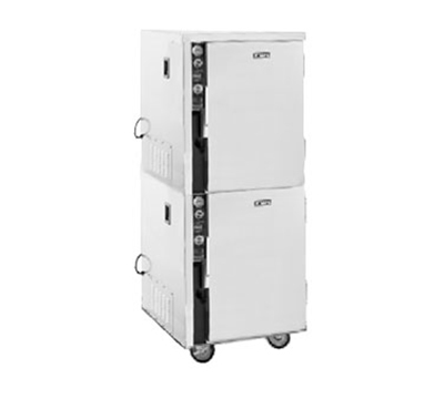 FWE - Food Warming Equipment MT-1220-6-6220 Mobile Heated Cabinet w/ 2-Doors, Split Cavity, Stainless, 220/1V