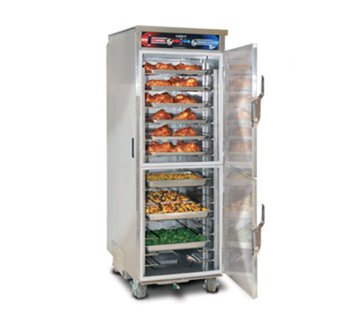 FWE - Food Warming Equipment PHTT-12 120 Clymate Heated Cabinet, 12 Univ. Tray Slides, Mobile, Insulated, Stainless,
