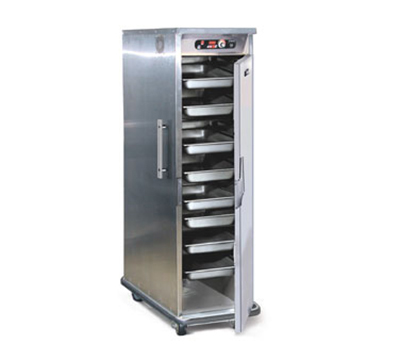 FWE - Food Warming Equipment PHTT-4 120 Clymate Heated Cabinet, 4 Univ. Tray Slides, Mobile, Insulated, Stainless, 120V