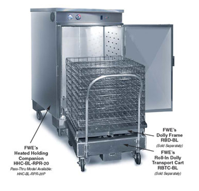 FWE - Food Warming Equipment RBTC-BL Transport Cart, Holds Dolly Frame RBD-BL-5in, Stainless