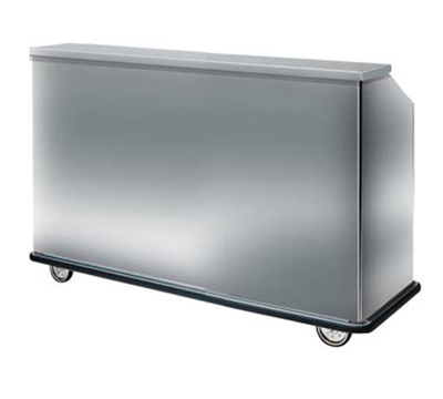 FWE - Food Warming Equipment SBBC-66 Mobile Bar w/ 60LB Capacity Ice Bin, 75-in L, Full-Bumpe