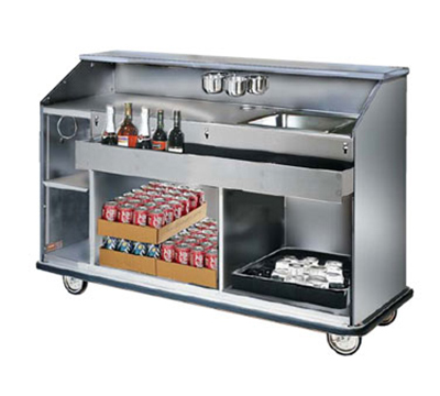 FWE - Food Warming Equipment SCB-88 Mobile Bar w/ Full Bumper, Convectional Beverage Service , 98-in L, Stainless