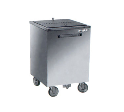 FWE - Food Warming Equipment SIC-200 Mobile All-Weather Ice Bin, 200lb Capacity, Insulated, Stainless